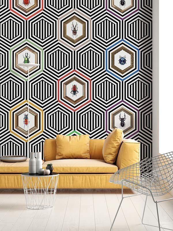 Tapety naścienne wzory geometryczne