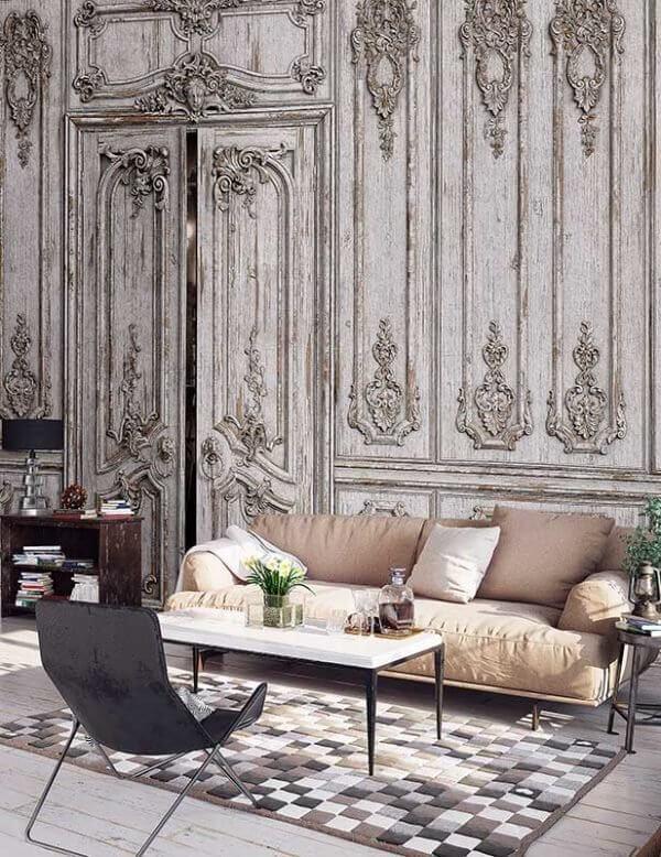Tapety naścienne w ornamenty