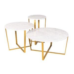 Stoliki z marmurowym blatem