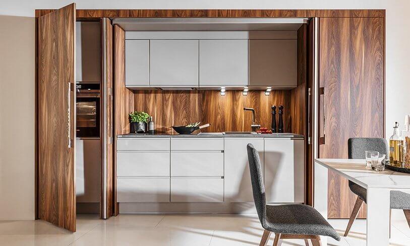 Kuchnia obita drewnem